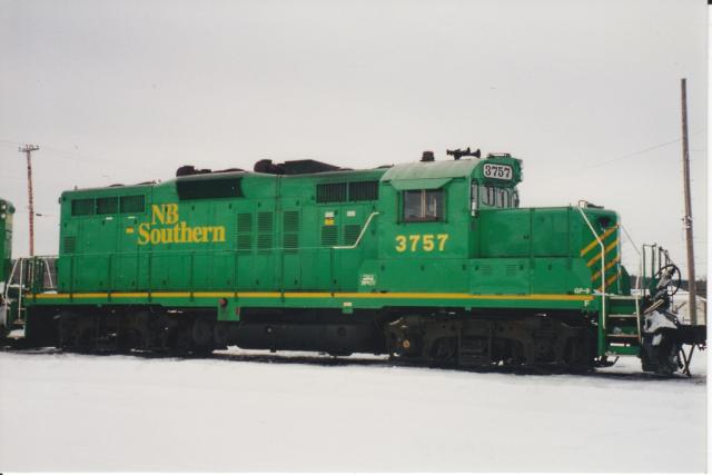 NB Southern 3757 in McAdam. Photo by Danny McCracken