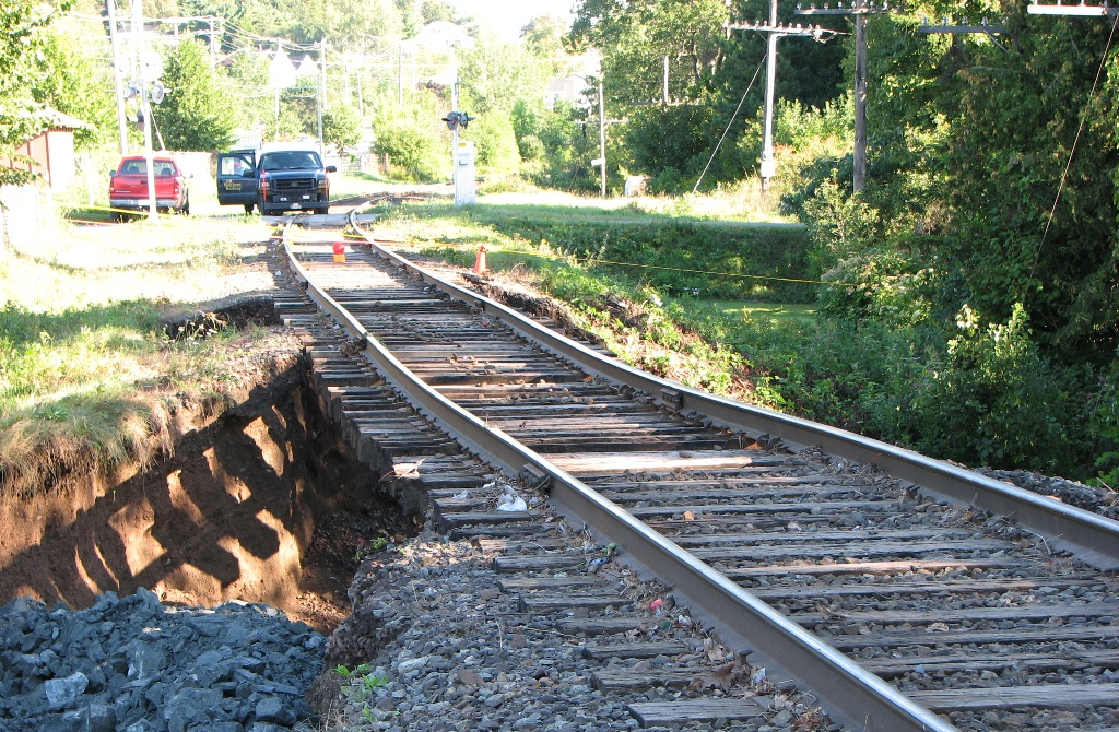 Track Washout in Grand Bay