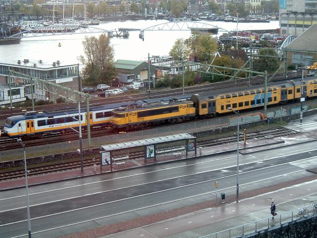Passenger trains in Amsterdam, October 2008