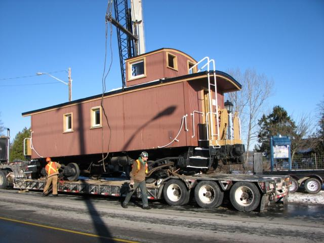 Ex-CP Caboose Leaving Grand Bay
