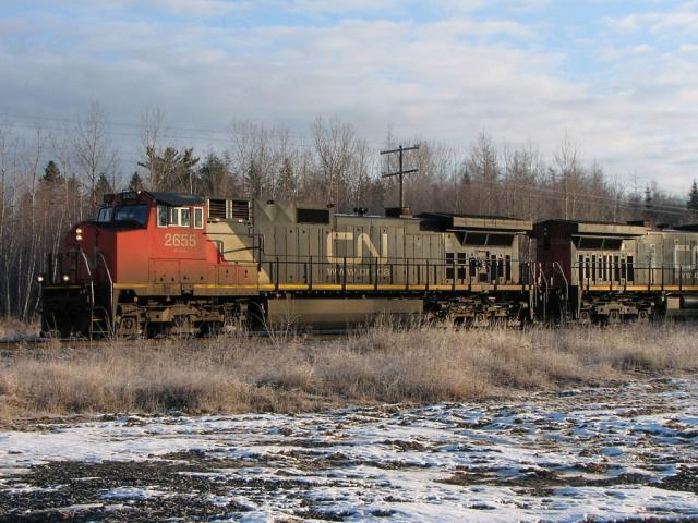 CN 2655 at McGivney, NB 2008/12/06