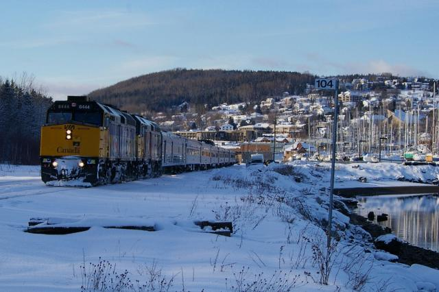 VIA 6444 in Gaspe, QC 2008/12/18 by David Morris