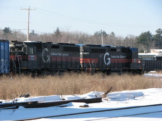 BM 335 and MEC 370 at Northern Maine Junction 2009/01/17