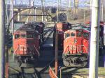 CN 5404 at Fairview in Halifax, NS 2004/11/18