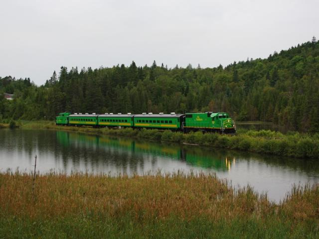 NB Southern excursion train at Renforth, photo by David Morris