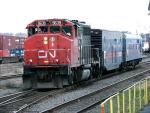 CN 9639 and the TEST Train, Halifax, NS 2009/11/01