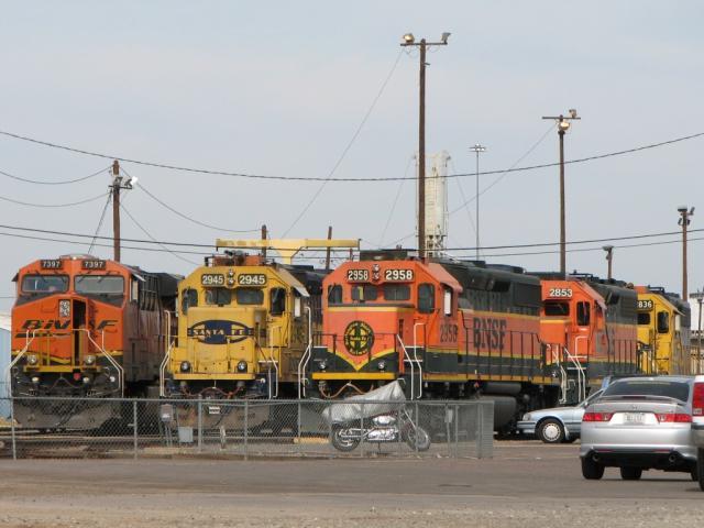 BNSF units in Phoenix