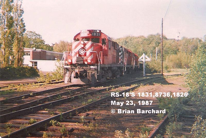 CP 1831 in Fredericton, NB 1987/05/23 by Brian Barchard