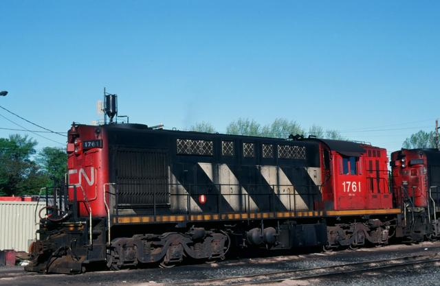 CN 1761 in Halifax. Slide by Douglas Courtney