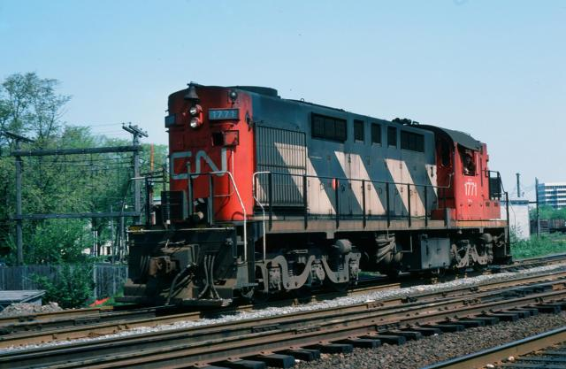 CN 1771 in Halifax. Slide by Walter Matuch