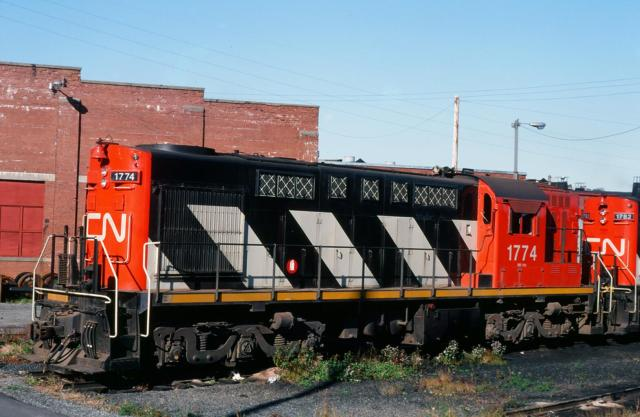 CN 1774 in Halifax, 1984/10/13 by Glenn Courtney