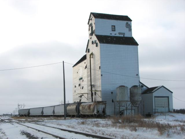 Grain elevator at Sanford MB