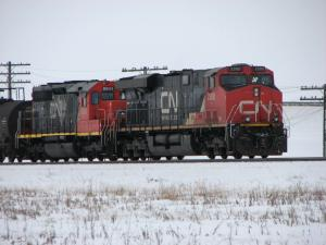 CN 2300 near Winnipeg, MB 2010/02/11