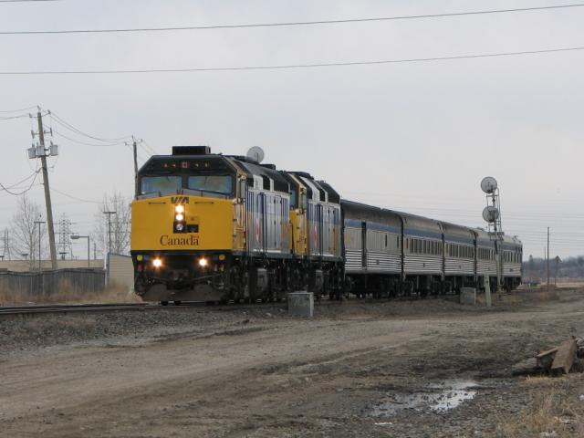 VIA's Hudson Bay with 6446 leading