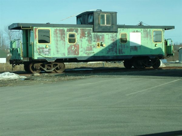 Former Smurfit-Stone caboose at St. Quentin. Photo by David Chiasson