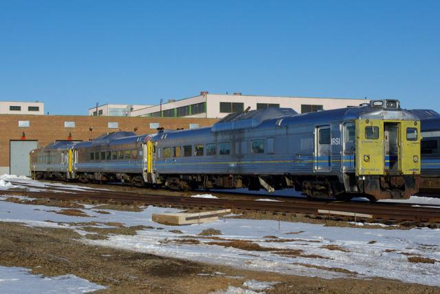 RDCs 6220, 6216, and 6206 in Moncton, NB 2010/03/12