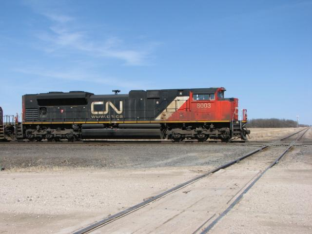 CN 8003 crosses the diamond