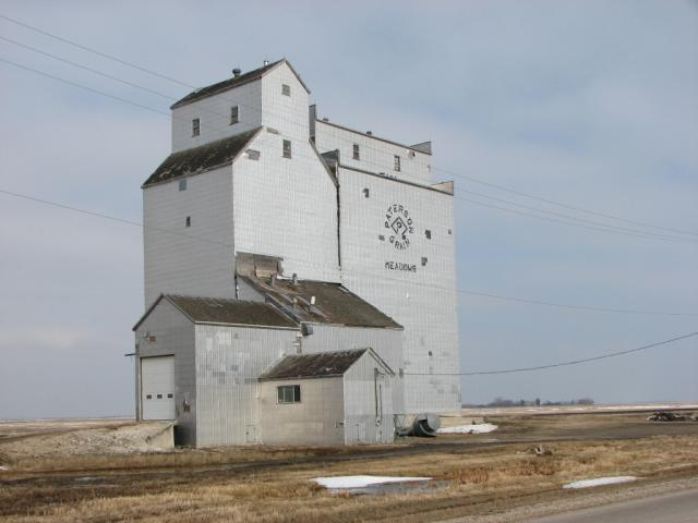 Grain elevator, Meadows, Manitoba