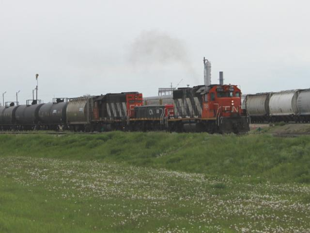CN 7518 and friends in Edmonton, Alberta