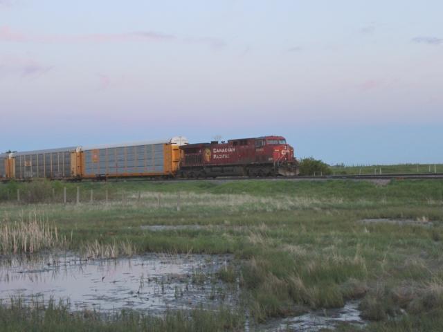 CP 8542 at Indus, Alberta