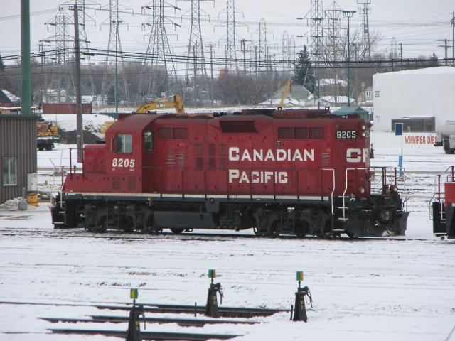CP 8205 in Winnipeg, February 21 2010