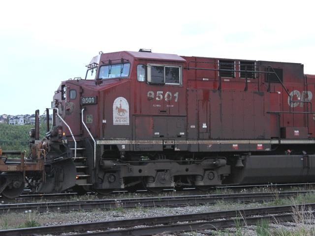 CP 9501 with RCMP logo