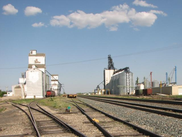 Grain elevators at Indian Head, SK
