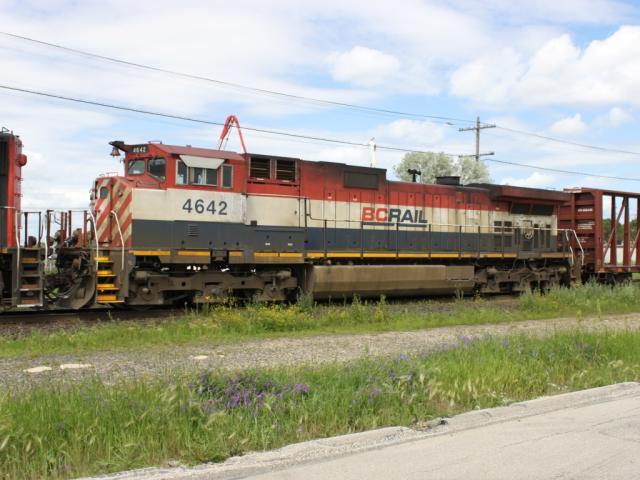 Ex BC Rail unit BCOL 4642 in Winnipeg