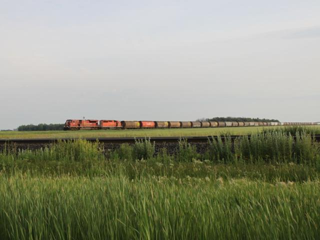 CP train on Glenboro subdivision