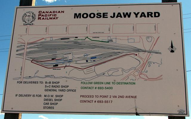CP Moose Jaw Yard Layout