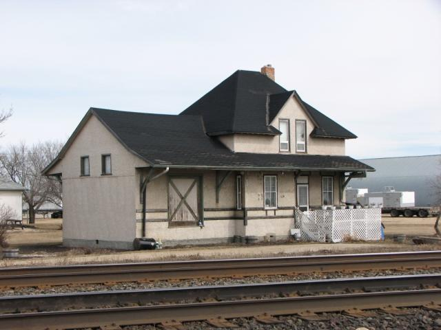 Former railway station in Elie, Manitoba