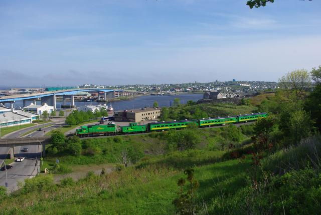 NB Southern train in Saint John. Photo by David Morris.