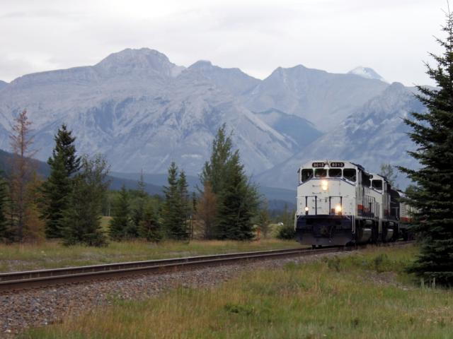 Rocky Mountaineer 8013 in Banff, AB 2010/08/08
