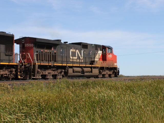 CN 2555 in Winnipeg