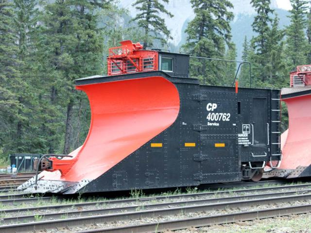 CP snow plow 400762 in Banff, Alberta