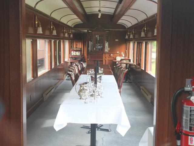 CP dining car Delamere at Lake Louise