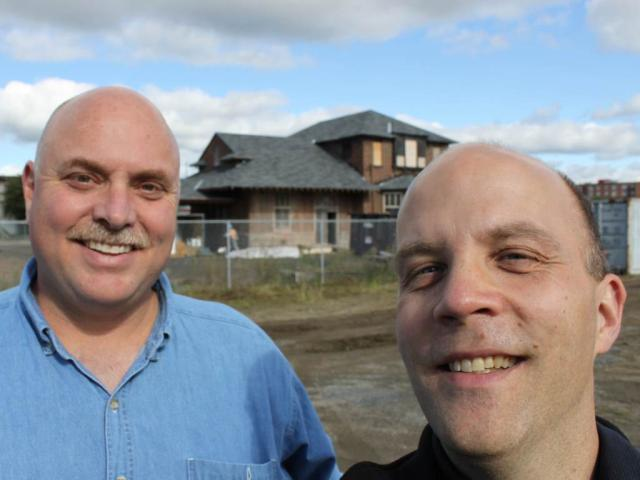 Tim Scammell and Steve Boyko at the Fredericton train station