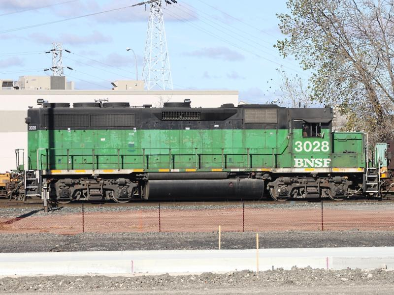 BNSF 3028 in Winnipeg