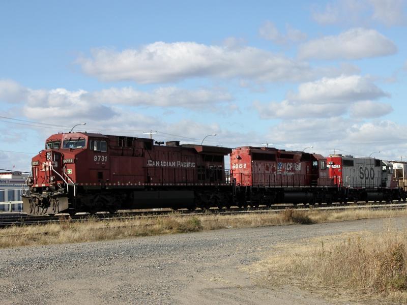 CP 9731 in Winnipeg
