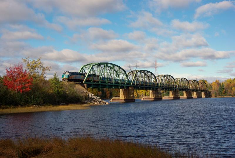 VIA crosses the Miramichi. Photo by David Morris