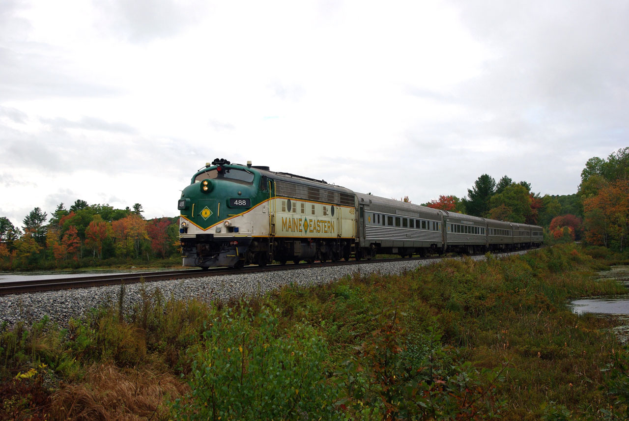 The Maine Eastern at Vannah Road, ME 2010/10/07 by David Morris