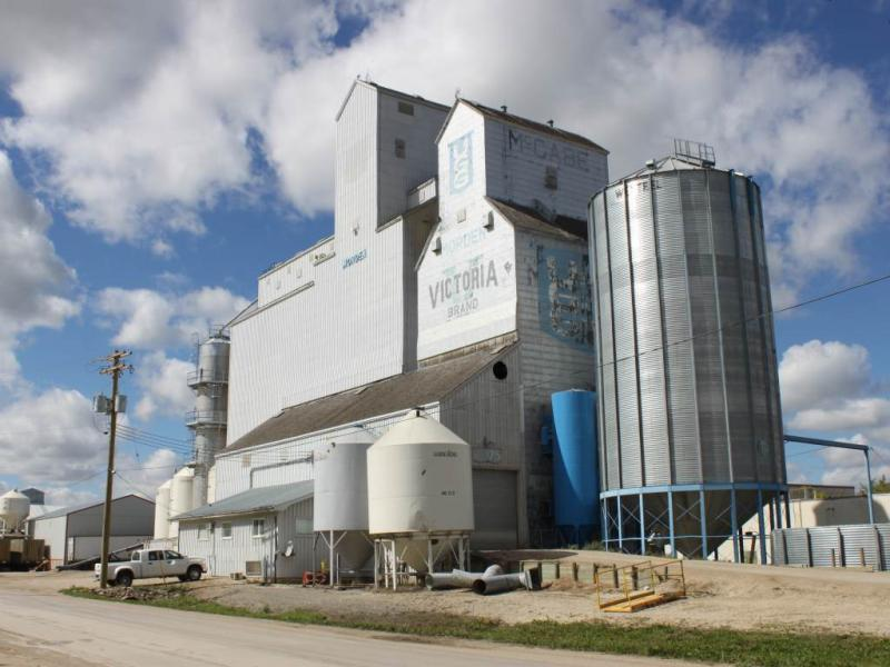 Grain elevator in Morden MB