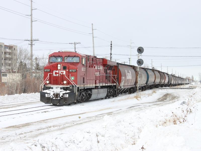 CP 8737 in Winnipeg