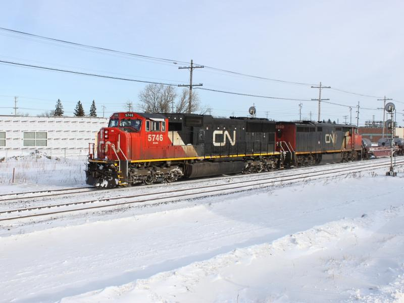 CN 5746 in Winnipeg