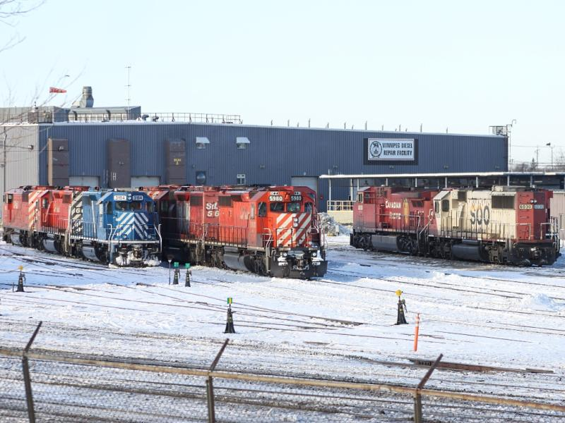 The CP diesel repair facility, Winnipeg, MB 2010/12/28