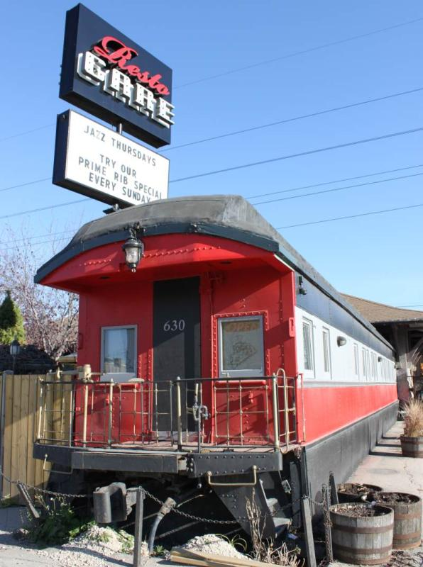 Resto Gare train car in Winnipeg