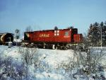 CP 4221 in Fredericton, NB 1984/01/17 by Greg Brewer