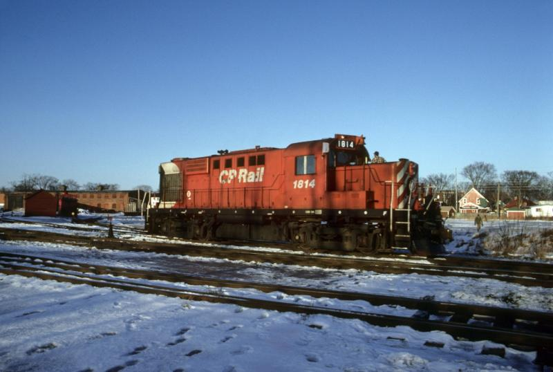 CP 1814 in Fredericton, NB 1984/01 by Greg Brewer