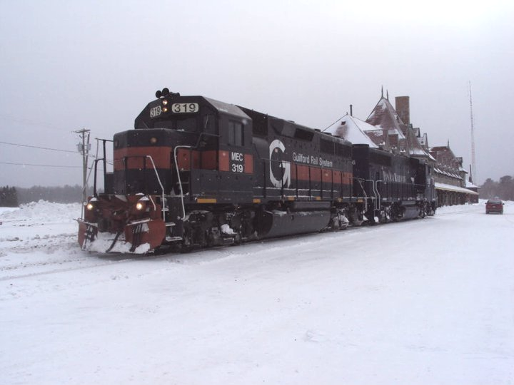 Maine Central 319 in McAdam, NB. Photo by Gary Lee Bowser