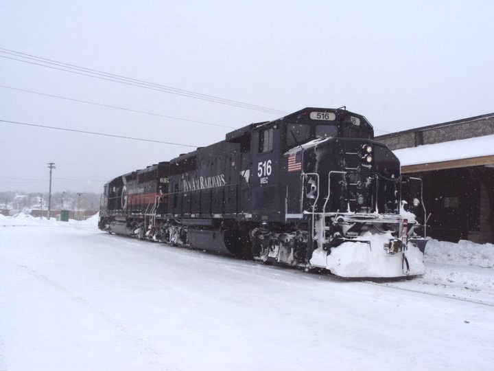 MEC 516 in McAdam, NB. Photo by Gary Lee Bowser
